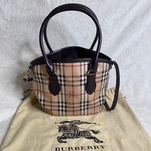 Burberry Tote w/Crossbody Strap